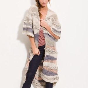 Free People Sands Of Time Cardigan Crochet Maxi